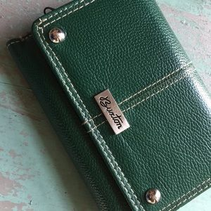 Buxton green leather wallet brand new